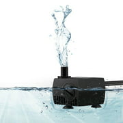 VicTsing 80 GPH (300L/H) Submersible Water Pump For Pond, Aquarium, Fish Tank Fountain Water Pump Hydroponics with 4.9ft (1.5m) Power Cord