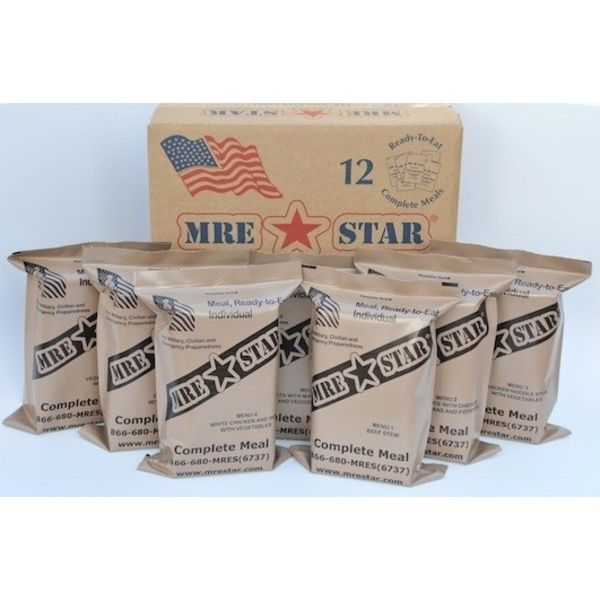 Click here to buy MRE Star Case of 12 MRE STAR Standard With Heater.