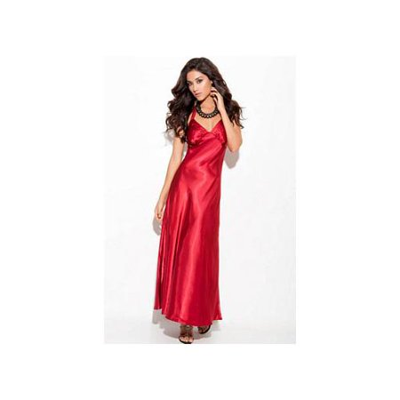 Enticing Red Diva Charmeuse Gown 1919XEM_R Red