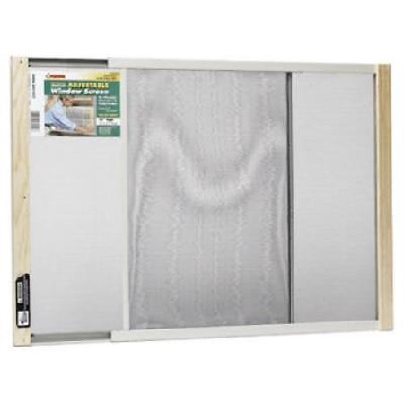 "18"" x 21"" - 37"" Metal Rail Extension Window Screen Bright Mesh Scree Only One"