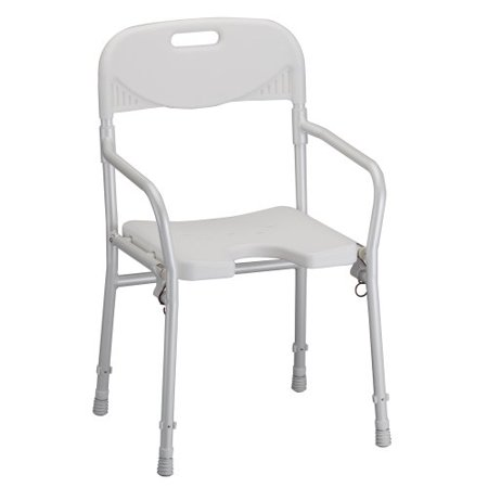 Foldable Shower Chair - NOVA Medical Products Shower Chair, Foldable with Arms and Back