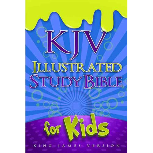 KJV Illustrated Study Bible for Kids: King James Version, Blue Simulated Leather