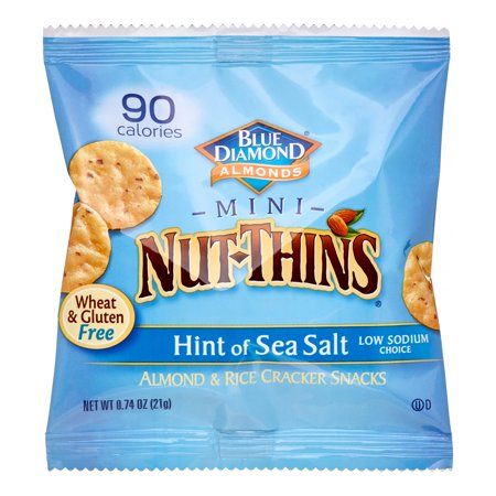 Mini Nut Thins, Gluten Free Almond & Rice Crackers, Hint Of Sea Salt, 6 Pack, 8.74 (Ritz Hint Of Salt Crackers Nutrition Facts)
