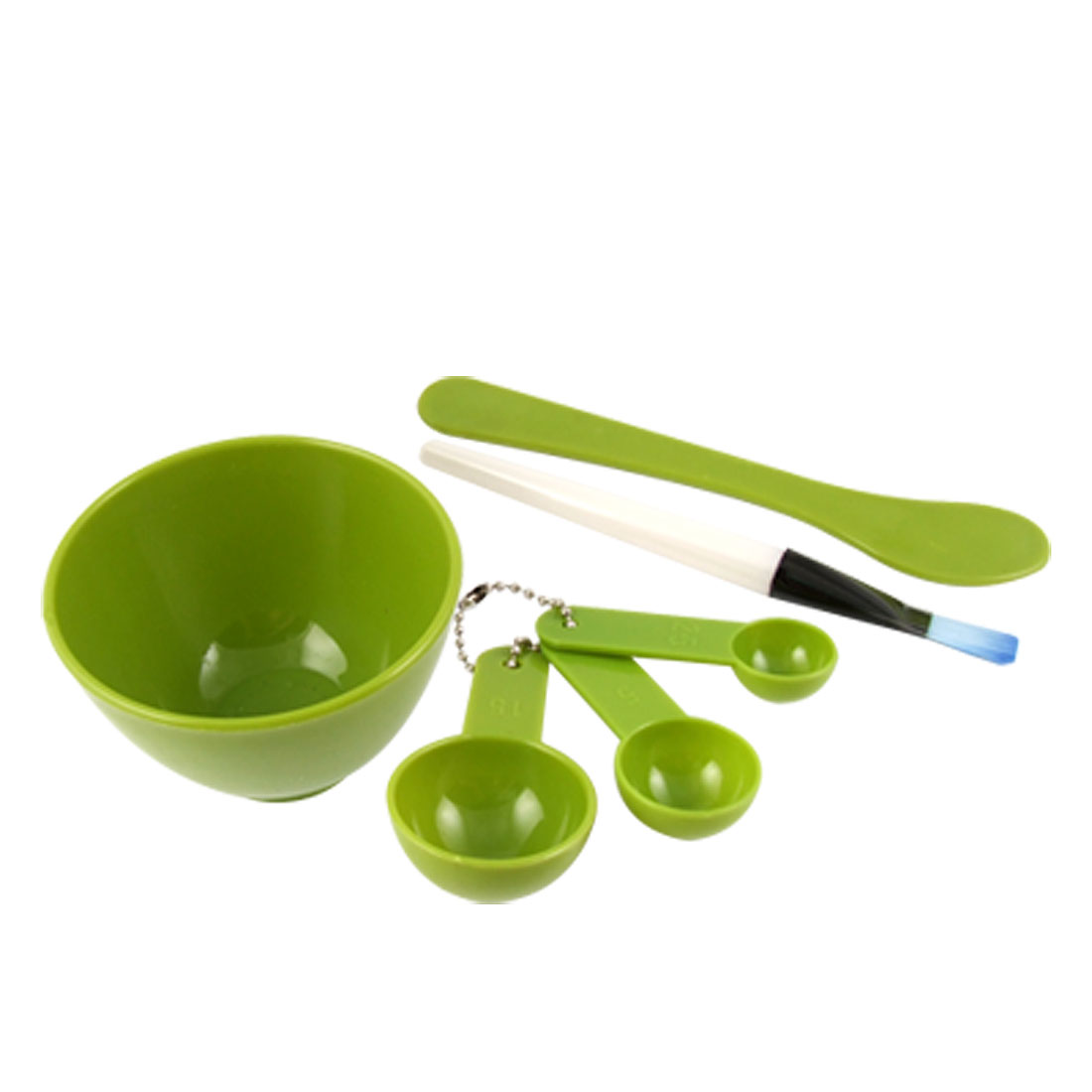 4 in 1 Green DIY Facial Face Mask Mixing Bowl Brush Gauge Stick Set