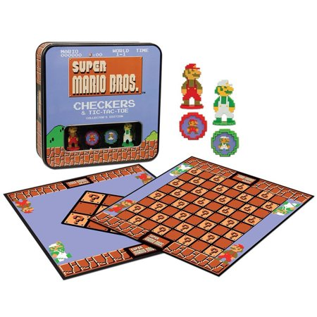 (Super Mario Bros Checkers & Tic-Tac-Toe Collector's Edition Board Game)