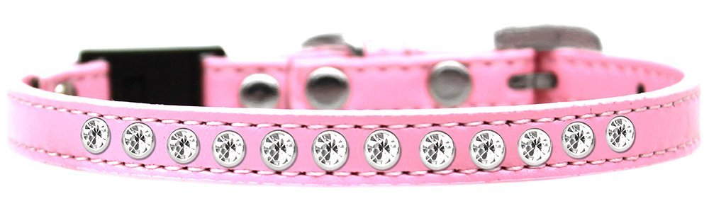 Clear Jewel Breakaway Cat Collar, Size 10, Light Pink Ship from US..., By Mirage Pet Products by