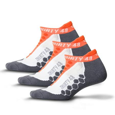 Thirty48 Running Socks Pair Unisex, CoolMax Fabric Keeps Feet Cool &
