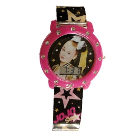 JoJo Siwa Mood Dial Kids Watch (Black Star Band) Band Star Wrist Watch