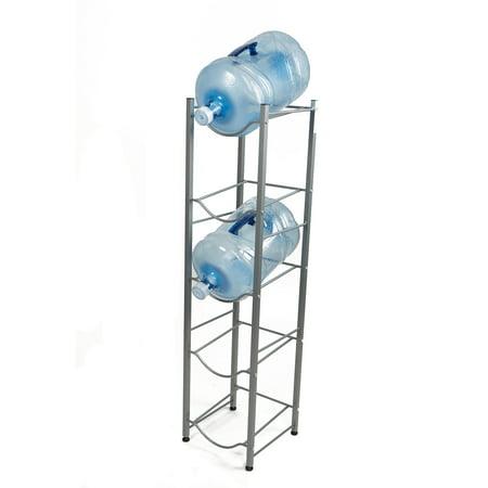 Mind Reader 5 Tier Water Cooler Jug Rack Silver Walmart Com