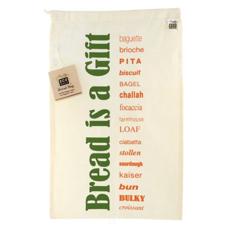 ECOBAGS Cotton Bags Bread Bag with drawstring 11 1/2