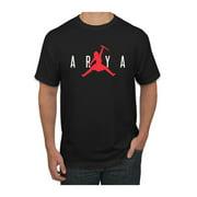 Air Arya Not Today GoT Thrones Stark Fan Mens Pop Culture Graphic T-Shirt