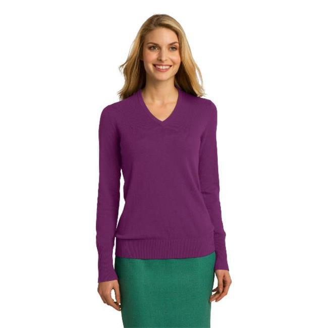 Port Authority® Ladies V-Neck Sweater. Lsw285 Deep Berry 3Xl - image 1 of 1
