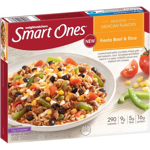Weight Watchers Smart Ones Fiesta Beef & Rice, 9 oz