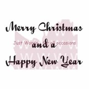 """Woodware Clear Stamps 2.5""""X1.75""""-Merry Christmas & Happy New Year"""