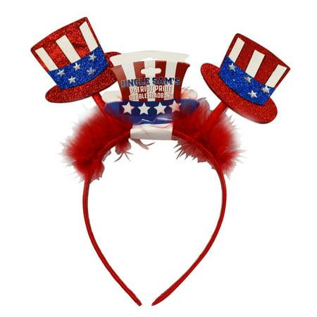 Uncle Sam's Patriot Pride Bobble Headband - Patriotic Hats (Red)](Tiny Hat Headband)