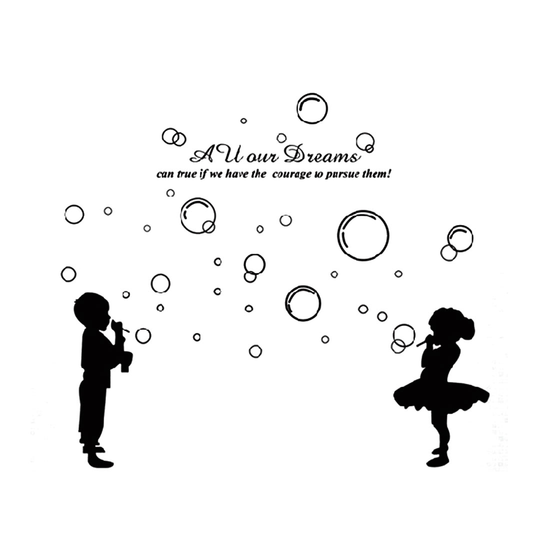 Bubbles DIY Home Room Removable Wall Decor Sticker 60x90cm