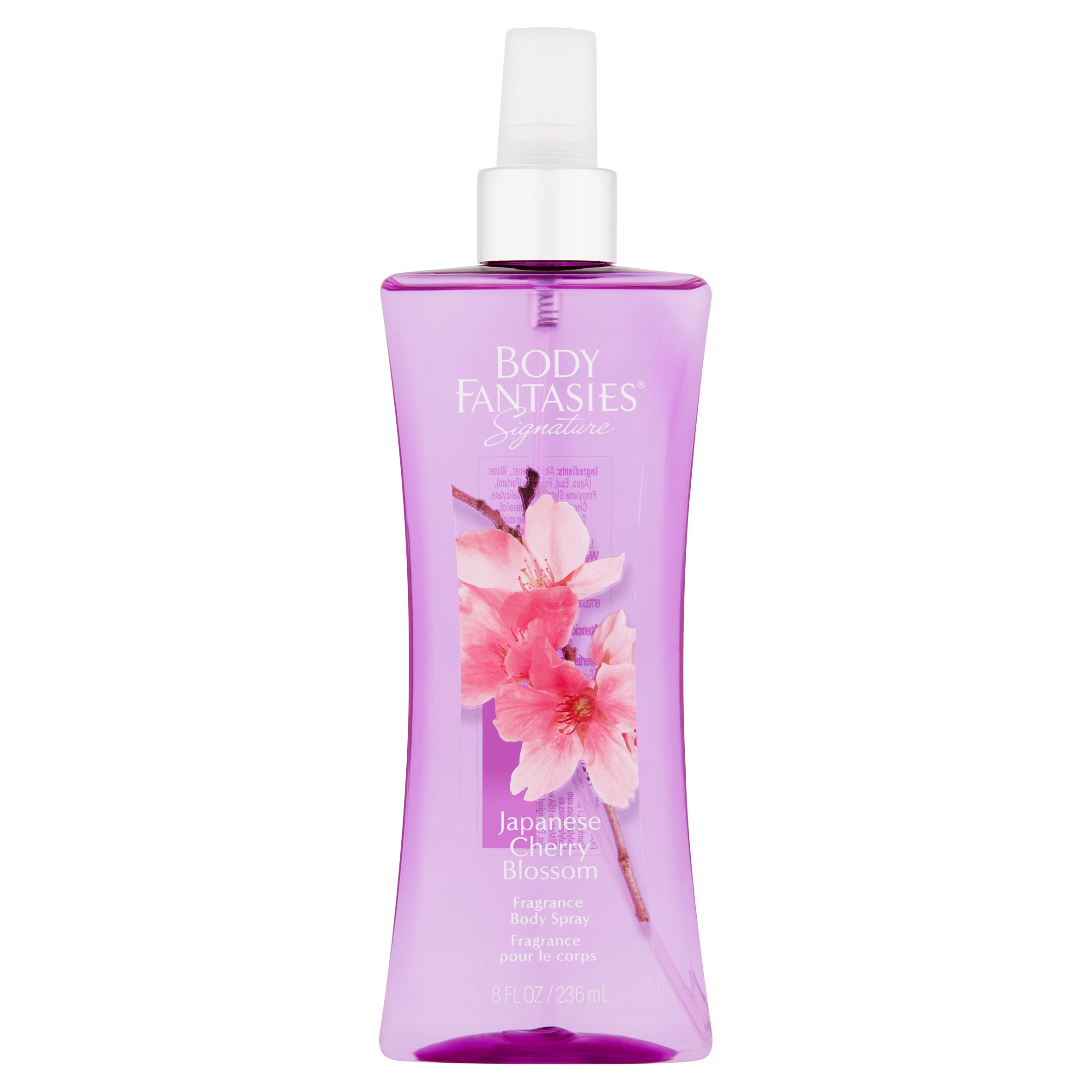 Body Fantasies Signature Japanese Cherry Blossom Fragrance Body Spray, 8 fl oz