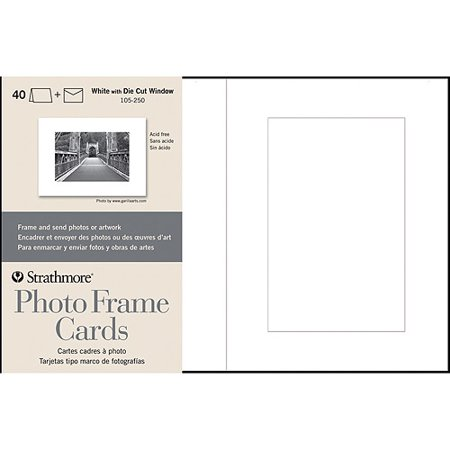 strathmore cards and envelopes 5 x 7 40pk photo frame cutout window