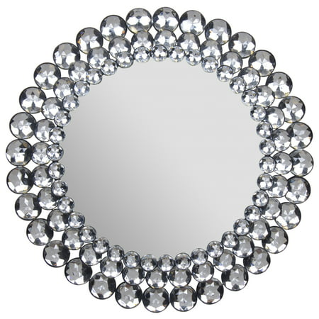 "Round Jeweled Mirror 11""x11"" by Gallery Solutions"