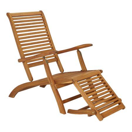 Wood Outdoor Lounge Chair (Mainstays Elkhart Lake Acacia Wood Outdoor Chaise Lounge Chair)