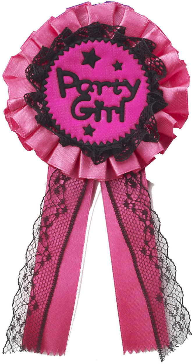 Adults Womens Life Of The Party Girl Award Ribbon Badge Costume Accessory by Forum Novelties
