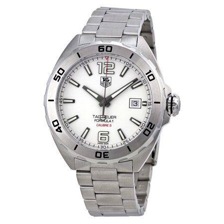 Tag Heuer Formula 1 Automatic White Dial Mens Watch Waz2114 Ba0875