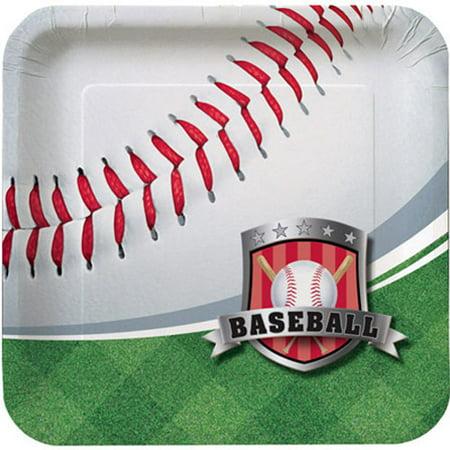 Baseball Paper Plates (Team Sports Baseball Small Paper Plates)