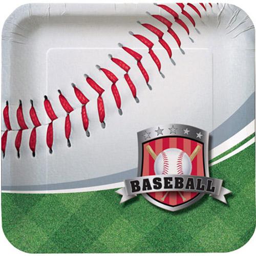 Team Sports Baseball Small Paper Plates (8ct)
