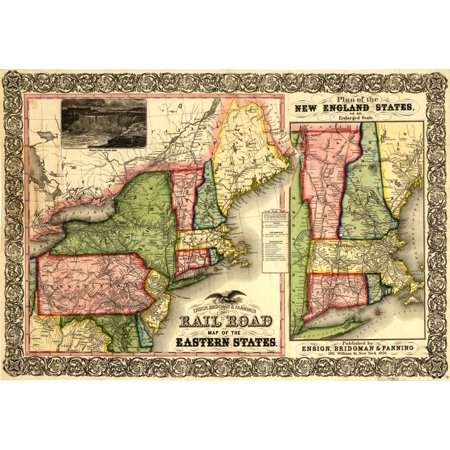 Map Of New England Part Of Eastern Canada New York Pennsylvania New