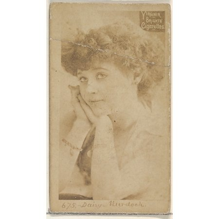 Card 675 Daisy Murdoch from the Actors and Actresses series (N45 Type 2) for Virginia Brights Cigarettes Poster Print (18 x 24)