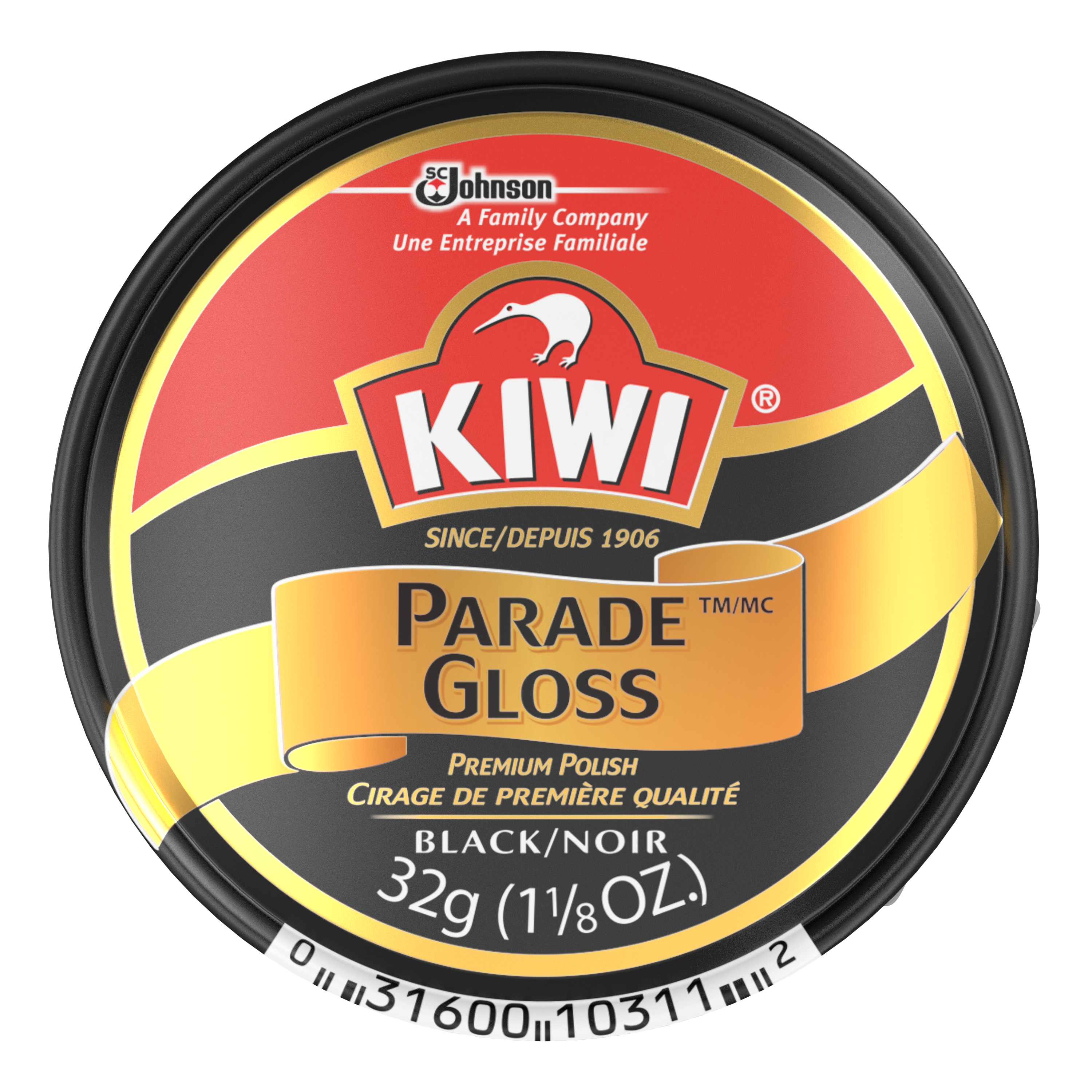 KIWI Small Parade Gloss Black 1.125 Ounces