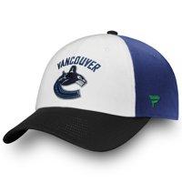 Vancouver Canucks Fanatics Branded Iconic Fundamental Adjustable Hat - White/Black - OSFA