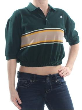 789c285b0b479 Product Image VOLCOM Womens Green Short Sleeve Top Size: S