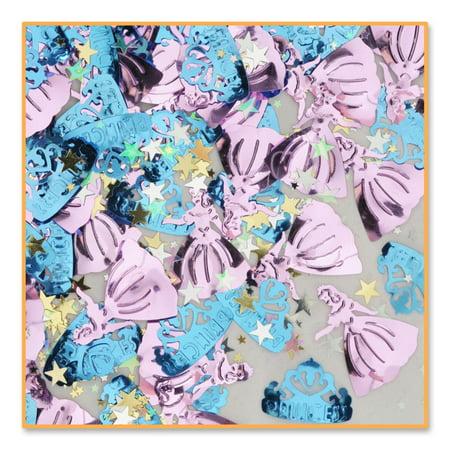 Pack of 6 Metallic Pink and Blue Princess Birthday Celebraton Confetti Bags 0.5 oz.](Princess Confetti)