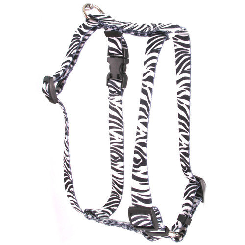 Yellow Dog Design Zebra Roman Harness