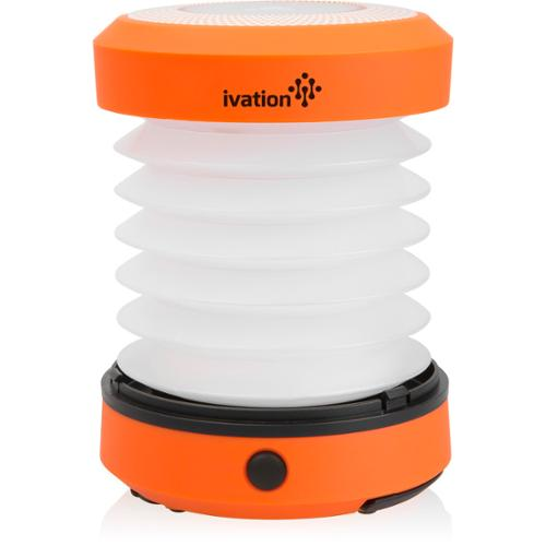 Ivation LED Camping Lantern Collapsible & Rainproof, Flashlight torch Mini Lamp with hanging handle, 2 Lighting levels, Battery Operated, Portable Handy and Easy to store, Yellow
