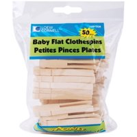 Loew-Cornell Simply Art Wood Baby Flat Clothespins 50 ct., Light colored, natural wood By LoewCornell