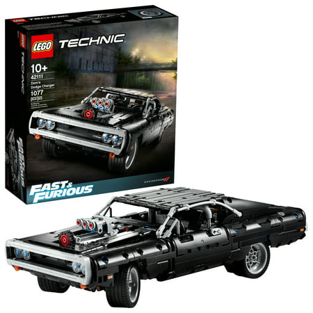 LEGO Technic Fast & Furious Dom's Dodge Charger Race Car Building Set 42111