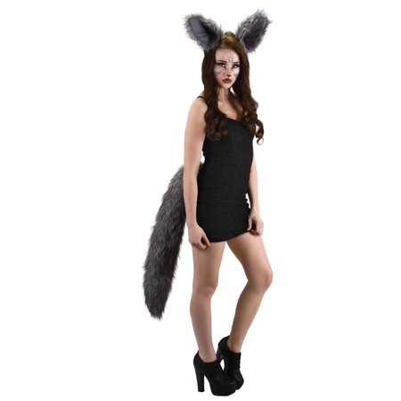 Deluxe Oversized Wolf Tail Adult Costume Accessory](Wolf Adult Costume)