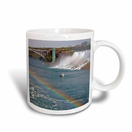 3dRose Ontario, Niagara Falls. Maid of the Mist boat, rainbow-CN08 LSE0000 - Lynn Seldon, Ceramic Mug, (Best Maid Cookies River Falls Wi)