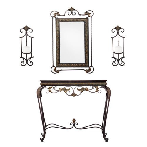 Southern Enterprises Upton Home Entry Way Console with Mi...