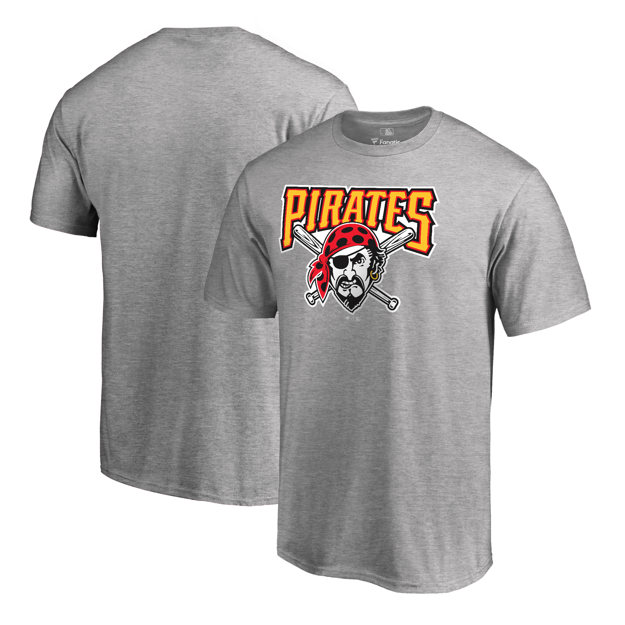 Pittsburgh Pirates Fanatics Branded Cooperstown Collection Huntington T-Shirt - Ash