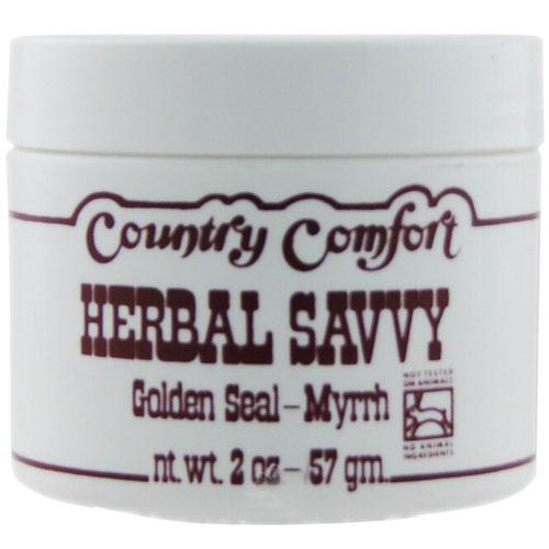 Country Comfort Herbal Savvy Comfrey, Golden Seal-Myrrh, 2 Oz