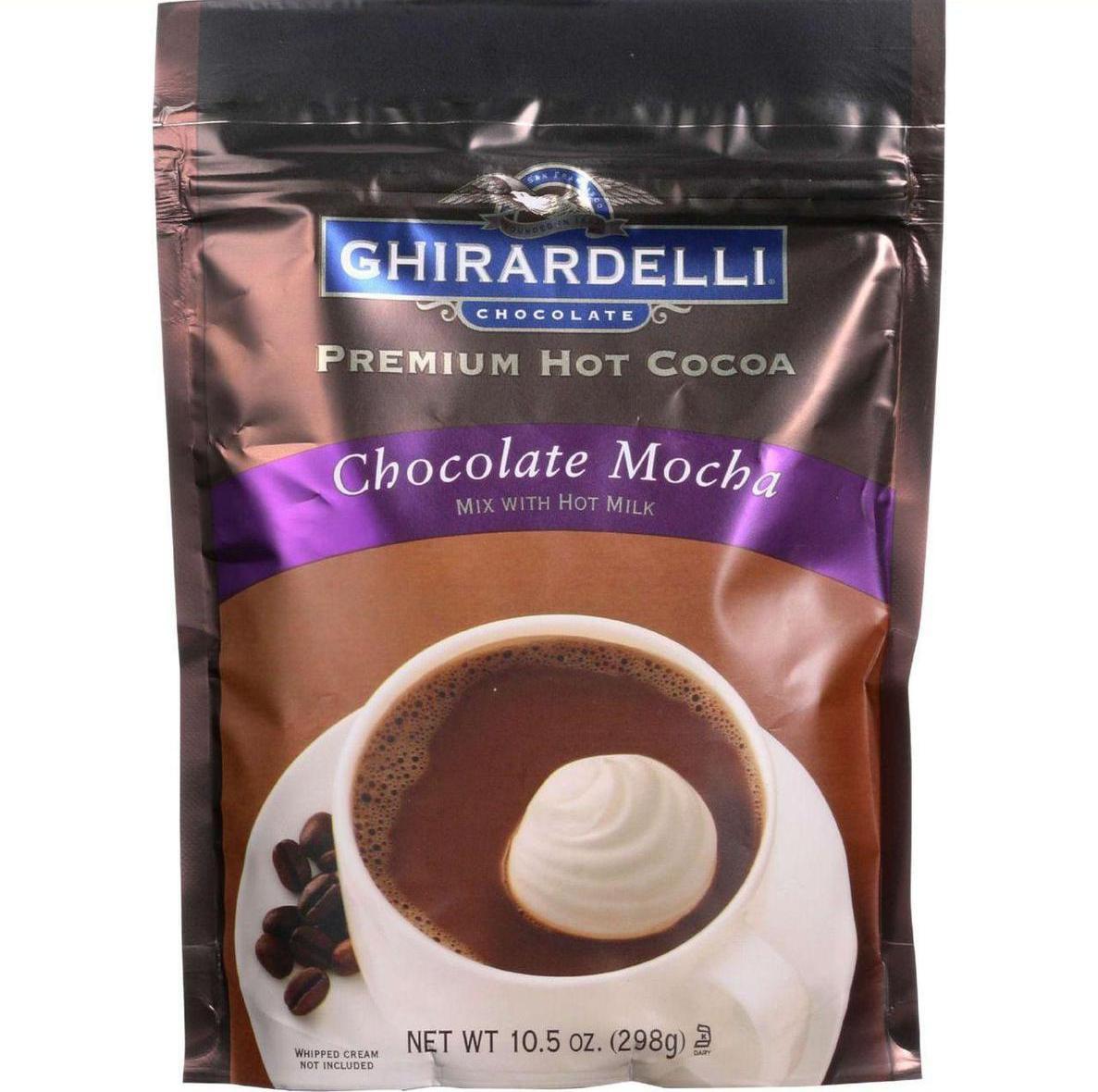 Ghirardelli Hot Cocoa Premium Chocolate Mocha 10.5 oz case of 6 by