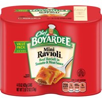 (2 pack) Chef Boyardee Mini Ravioli, 15 oz, 4 Pack