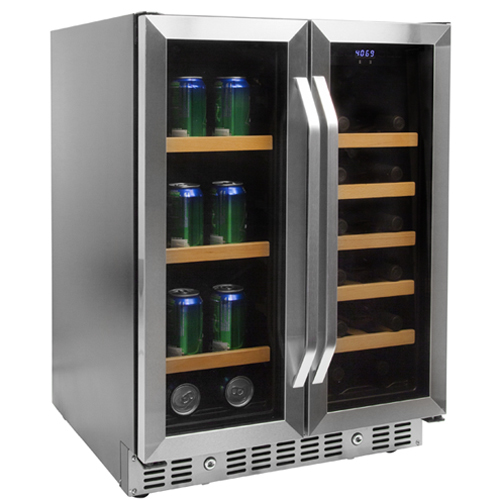 Edgestar 24 Inch Built In Wine And Beverage Cooler With