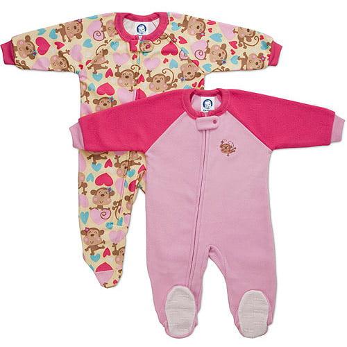 Baby Girls Blanket Sleepers Walmart Com