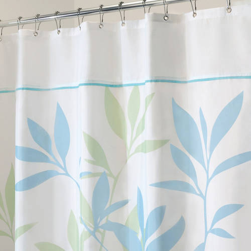 Interdesign Leaves Fabric Shower Curtain Various Sizes