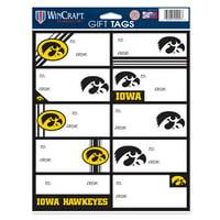 Iowa Hawkeyes Gift Tags