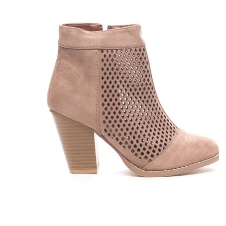 Soho Shoes Women's Laser Cut  Casual Ankle Bootie